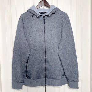 Under Armour Mens Zip Up Gray Hoodie Jacket